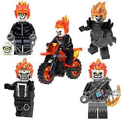 Фигурки призрачный гонщик Ghost Rider лего Lego