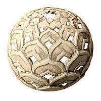 Скульптура керамическая - Светильник восточный, Лотос Д=18см (шамотная глина)