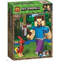 """Конструктор Minecraft Bela 11166 """"Стив с попугаем"""", 159 дет, фото 1"""