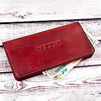 Женский кожаный кошелек на кнопках Dezzle (2602 красный)