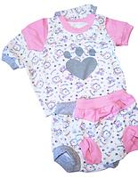 Комплект на малышей футболка и трусики под памперс(100% хлопок)