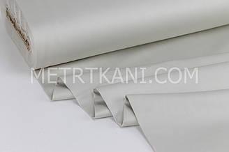 Сатин  премиум,  серо-бежевого цвета ширина 240 см № ПС-0046