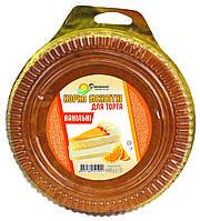 Коржі бісквітні для торта Домашні продукти 400г Ванільні