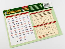 Картонка-підказка Абетка Українська мова 20*15 см Зірка