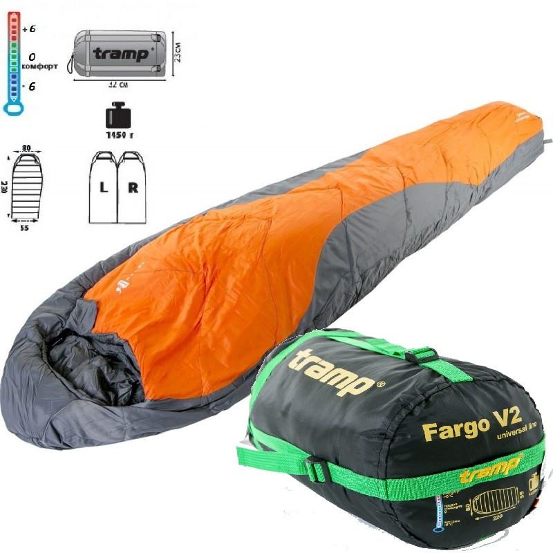 Спальный мешок-кокон Tramp Fargo. Спальник кокон. Туристический спальник