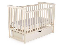 Кровать детская Bimbi с опускной боковиной и ящиком, ваниль
