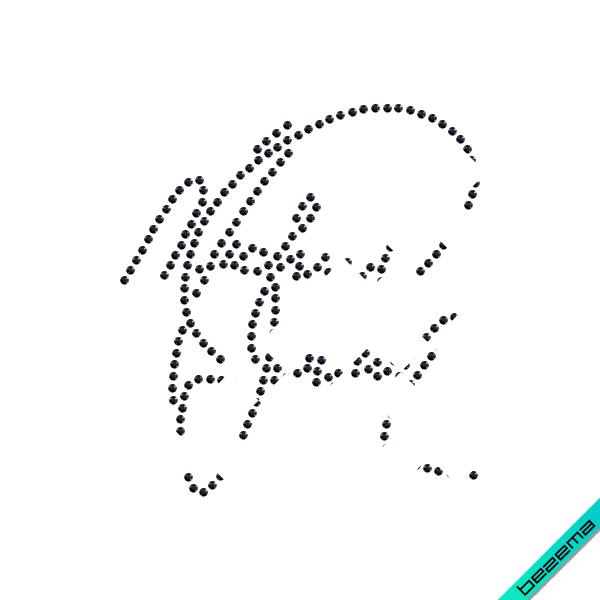 Термотрансфер на полупальто Автограф Майкла Джексона (Стекло,2мм-бел.)