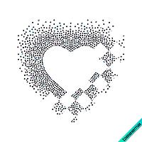 Картинки на комплекты Сердце (Стекло,3мм-черн.,4мм-жел.)
