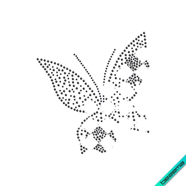 Термопереводки на шарфы Бабочка (Стекло,2мм-бел.,3мм-красн.,3мм-зол.)