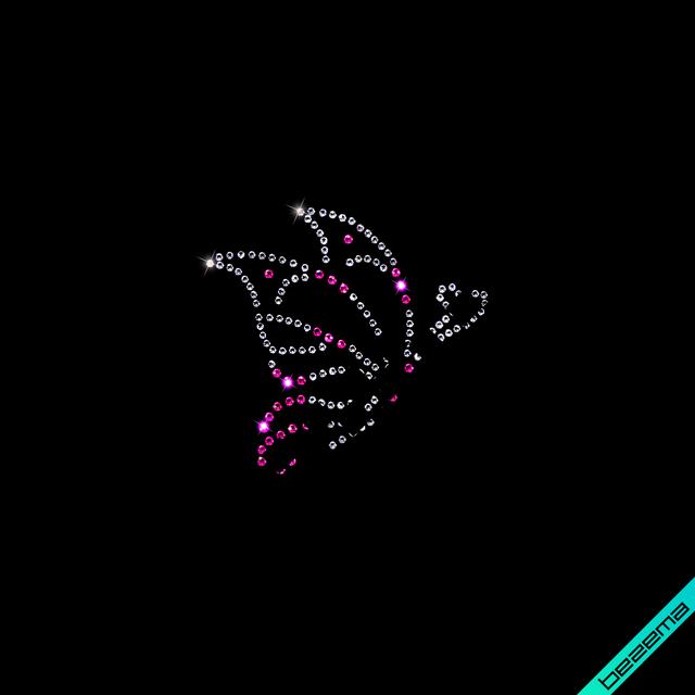 Рисунки на гетры Бабочки (Стекло,2мм-роз.,3мм-красн.)