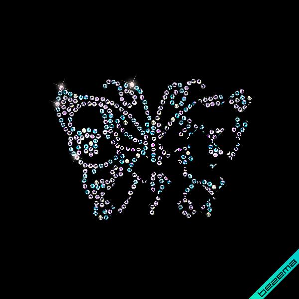 Аплпикации на слипоны,сникерсы Бабочки (Стекло,3мм-бенз.)