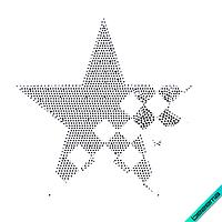 Термопереводки на жакеты Звезда (Стекло,2мм-жел.,3мм-бел.,3мм-красн.), фото 1
