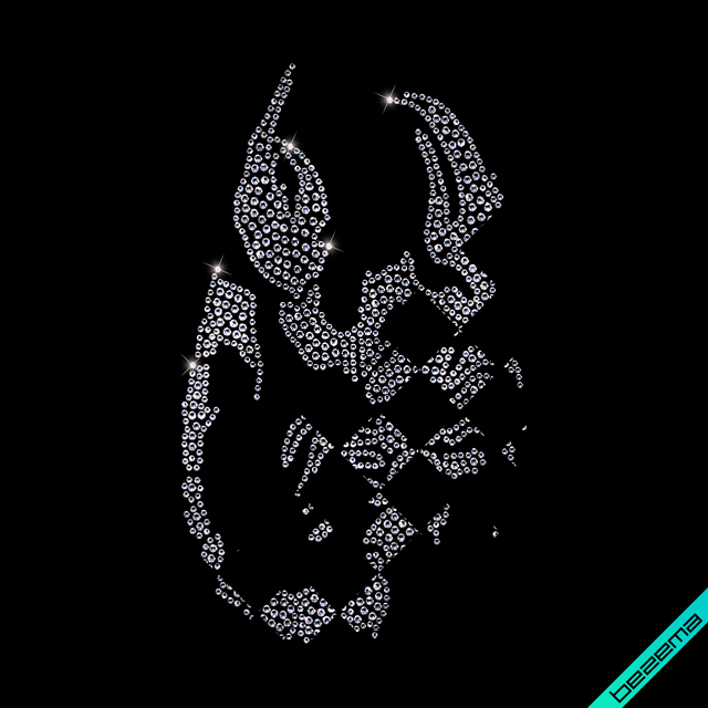 Термоперевод на регланы Скорпион (Стекло,3мм-жел.,2мм-бел.)