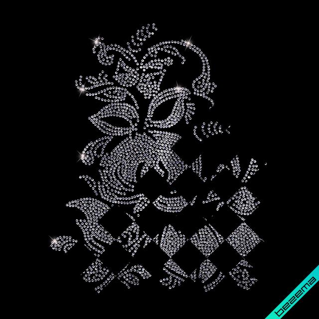 Термопечать на шорты Цветок (Стекло,2мм-голуб.)