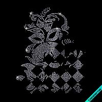 Термопечать на шорты Цветок (Стекло,2мм-голуб.), фото 1