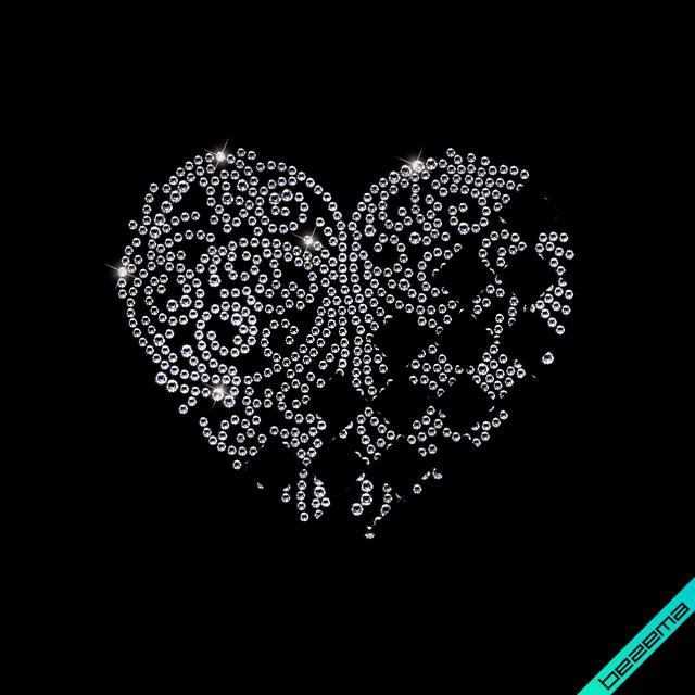 Рисунки на одежду Узор сердце ( 2мм-красн.,3мм-бел.)