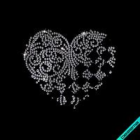 Рисунки на одежду Узор сердце ( 2мм-красн.,3мм-бел.), фото 1