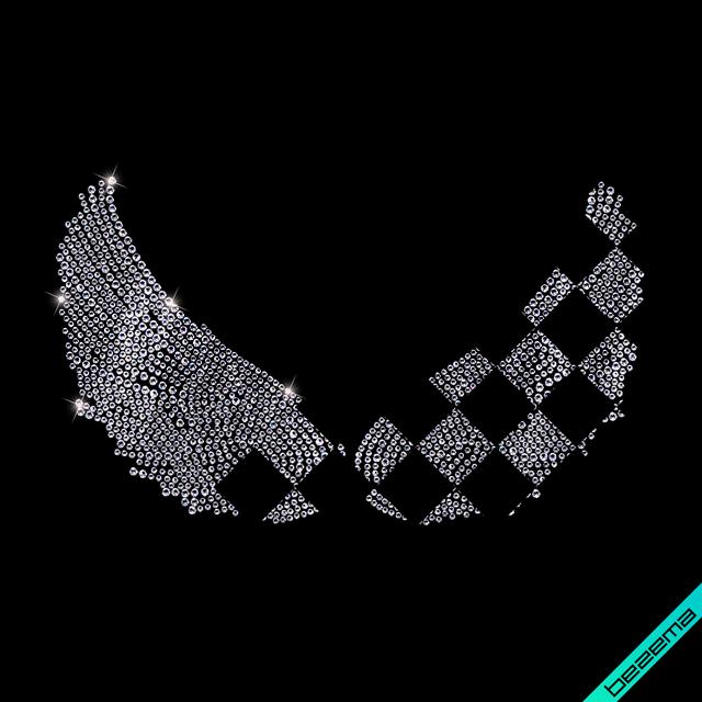 Рисунки на леггинсы Крылья (Стекло,2мм-жел.,3мм-бел.)