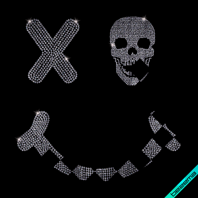 Термопереводки на панамки Череп Smile (Стекло,3мм-бел.,2мм-бел.,3мм-красн.)