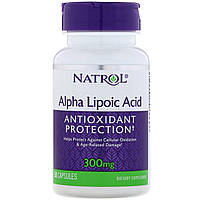 Альфа-липоевая кислота, Alpha Lipoic Acid, Natrol, 300 мг, 50 капсул
