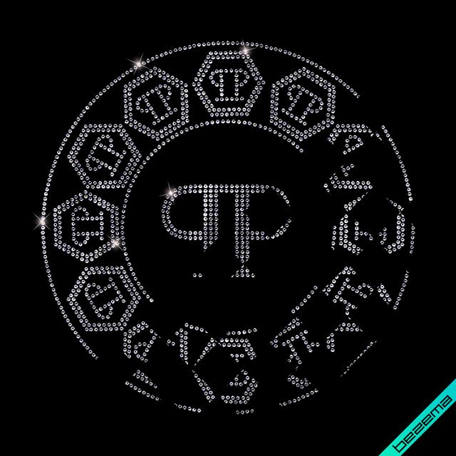 Термоаппликации зі страз на півчобітки Логотип (Скло,3мм-салат.)