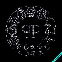 Термоаппликации из страз на полусапожки Логотип (Стекло,3мм-салат.)