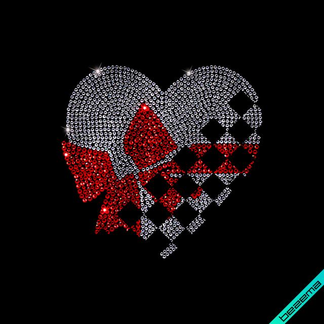Рисунки на одежду Сердце с бантиком ( 2мм-роз.,2мм-зол,3мм-роз.)