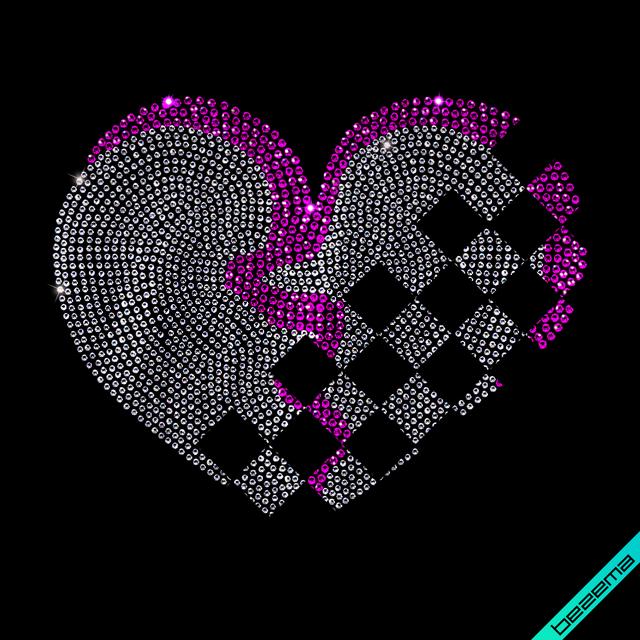 Дизайн на толстовки Сердце (Стекло,3мм-бенз.,4мм-красн.)