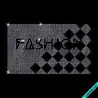 Термоаппликации из страз на пуховики Fashion (Стекло,2мм-гем.)