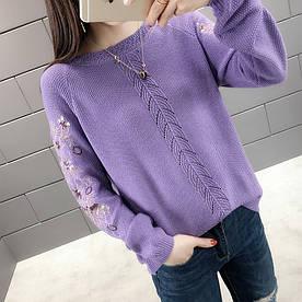 Красивый свитер с пайетками 44-46 (в расцветках)