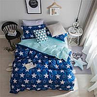 """Двухспальное красивое постельное белье из сатина""""Звездочки"""""""