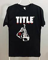 Футболка боксерские перчатки TITLE черная