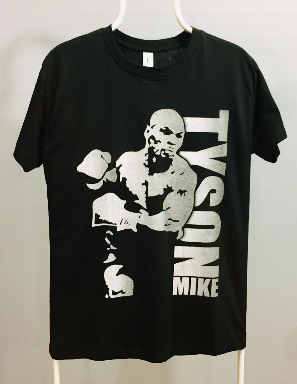 Футболка черная силуэт Mike TYSON