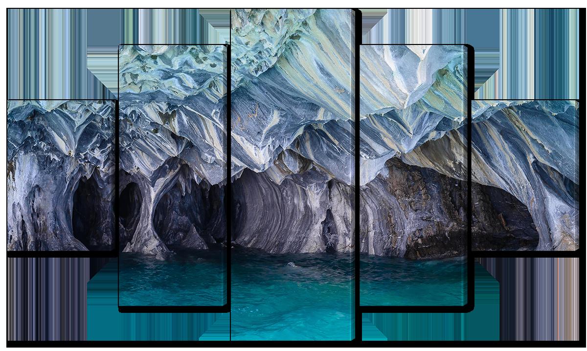 Модульная картина Interno Холст Мраморные пещеры чили 142х80см (R1575L)
