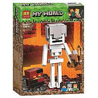 """Конструктор Minecraft  Bela 11168 """"Cкелет с кубом магмы"""", 142 дет, фото 1"""