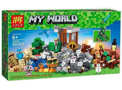 "Конструктор Lele 33231 ""Верстак 2.0"" (аналог Lego Майнкрафт, Minecraft 21135), 800 дет"