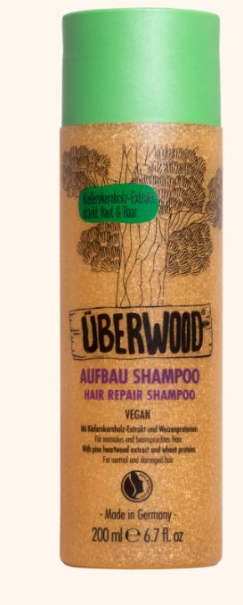 Шампунь восстанавливающий для нормальных и поврежденных волос ÜBERWOOD®, 200 мл