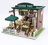 """3D Румбокс Кафе """"Coffee Time"""" - Ляльковий Дім Конструктор / DIY Doll House від CuteBee, фото 5"""