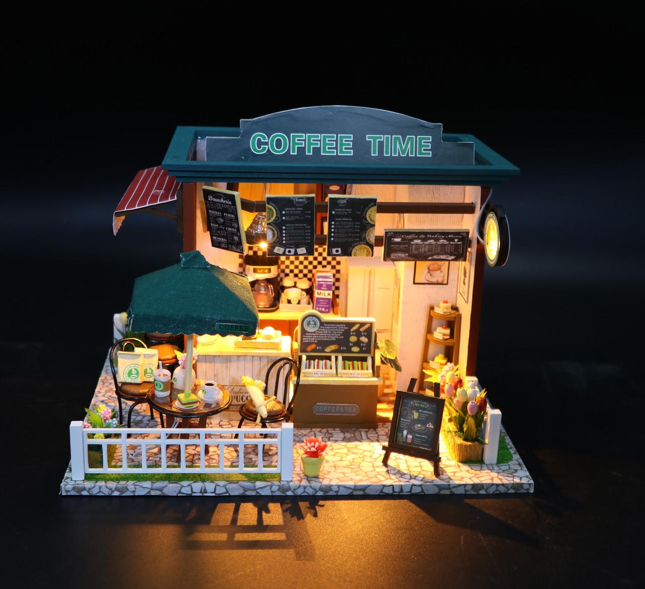 """3D Румбокс Кафе """"Coffee Time"""" - Ляльковий Дім Конструктор / DIY Doll House від CuteBee"""