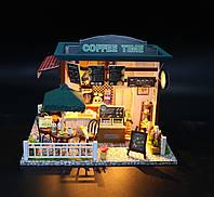 "3D Румбокс Кафе ""Coffee Time"" - Кукольный Дом Конструктор / DIY Doll House от CuteBee"