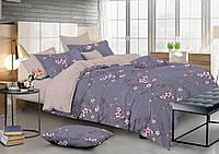 Двухспальное красивое постельное белье из сатина