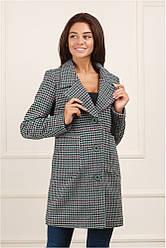 Женское пальто серое Семи 48