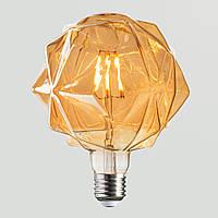 LED Лампа G125 Rustic Crystal 6W