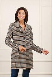 Женское пальто Семи бежевое 44