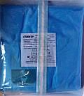 Халат хирургический одноразовый стерильный 134 см на завязках (рукав на резинке) р. XXL / СЛАВНА, фото 3