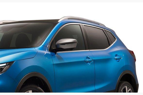 Накладки на зеркала Серый мат (2 шт, пласт.) Nissan X-trail T32 2014↗ гг.