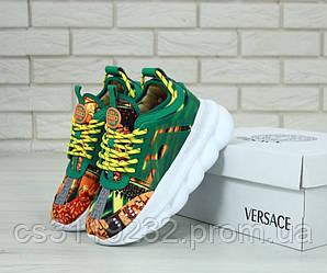 Женские кроссовки Versace Chain Reaction (зеленые)