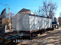 Перевозка гаражей на открытых площадках. Перевозки негабаритных грузов. Трал. Негабарит.