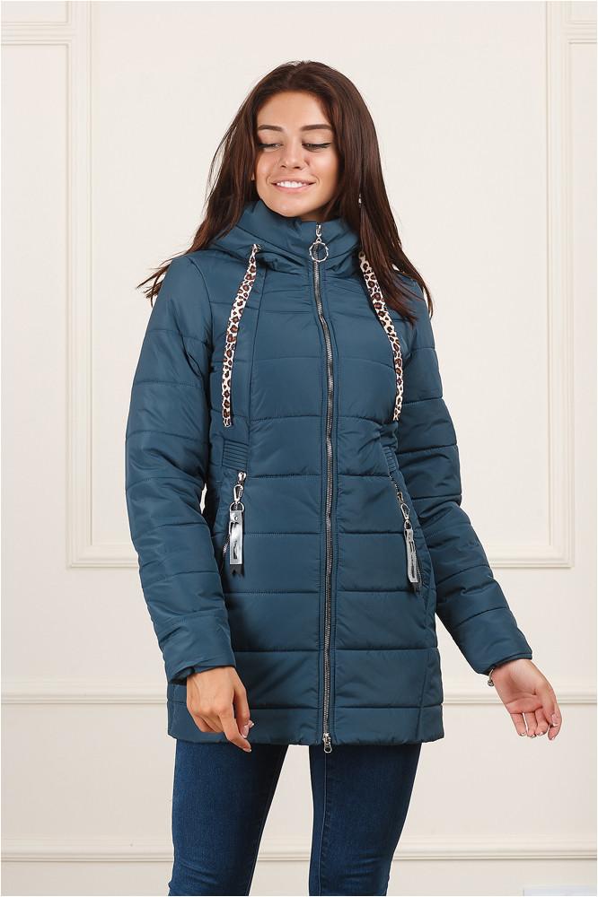 Женская демисезонная  куртка Енни бледно-синяя