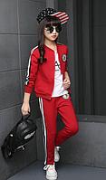 Стильний спортивний костюм / Комплекты детской одежды хлопковые осенние красные спортивные костюмы для девочек